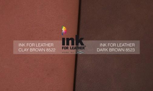 Due nuove tonalità di bruno per gli INK FOR LEATHER
