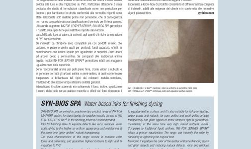 INK FOR LEATHER SPRAY: Inchiostri all'acqua per la tintura del cuoio in fase di rifinizione